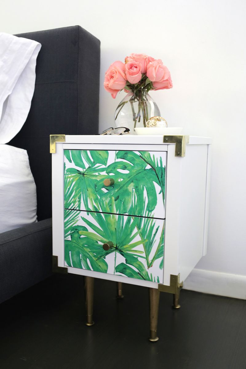 Too Cute! Nightstand Table Makeover (click Through To See More!