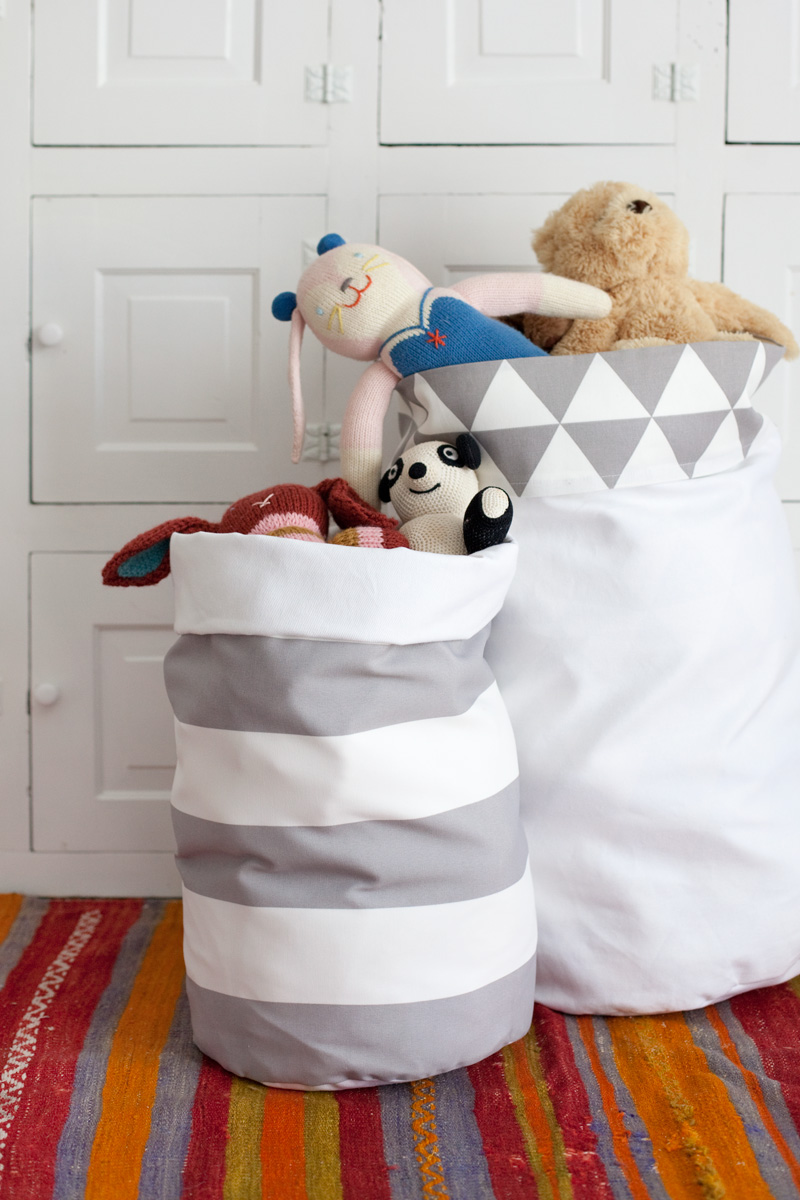 tall fabric storage bin
