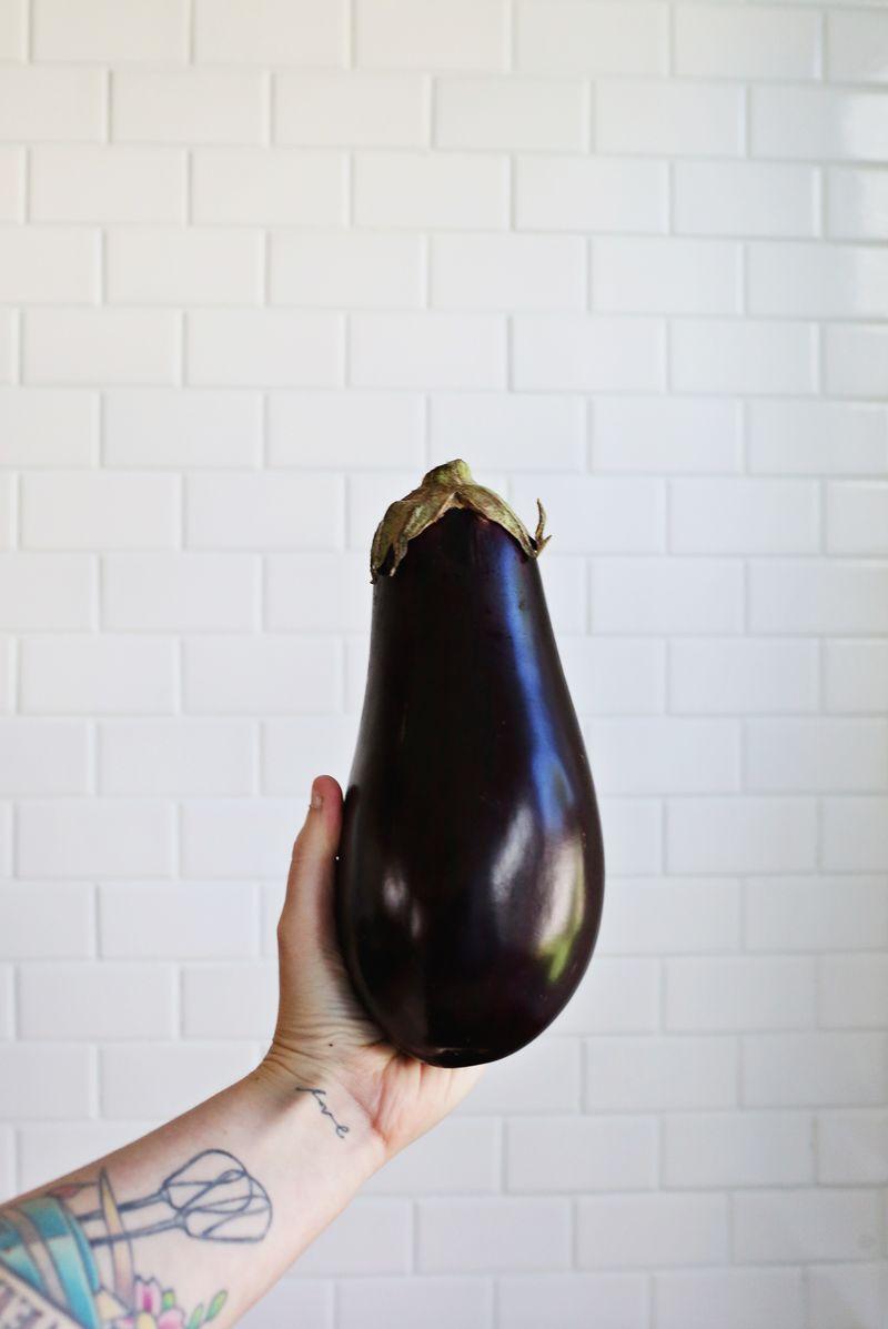 Real life eggplant emoji