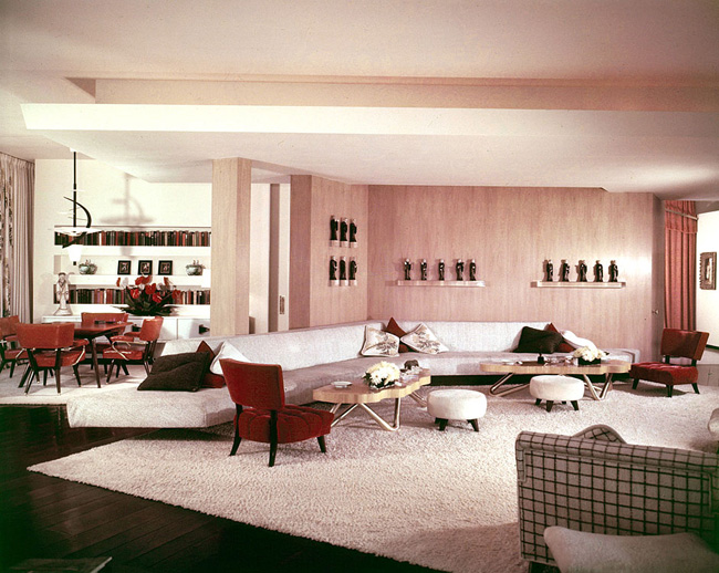 William Haines Brody House 1950 Above: Brody House Living Room ...