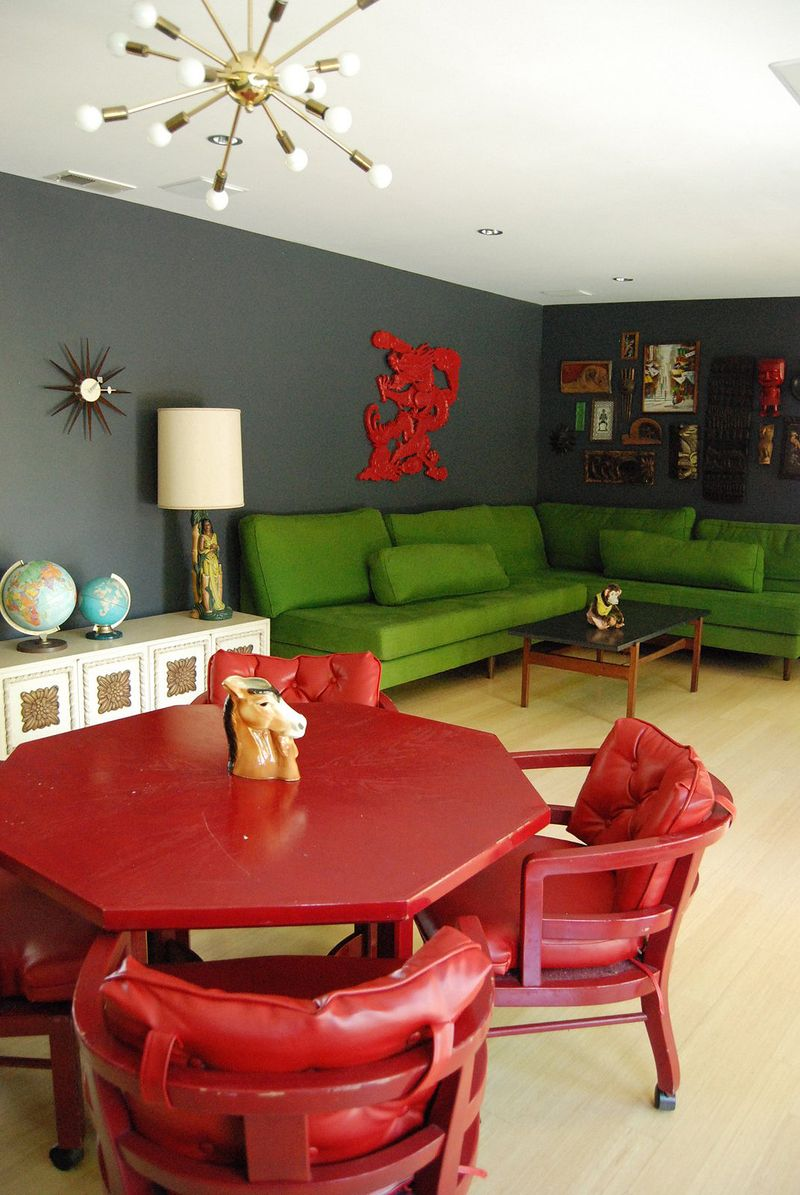 Red and green! At Home with Kimi Encarnacion