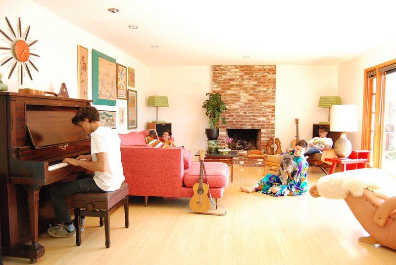 Living room via At Home with Kimi Encarnacion