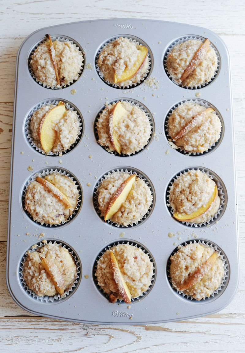 Easy peach muffin recipe