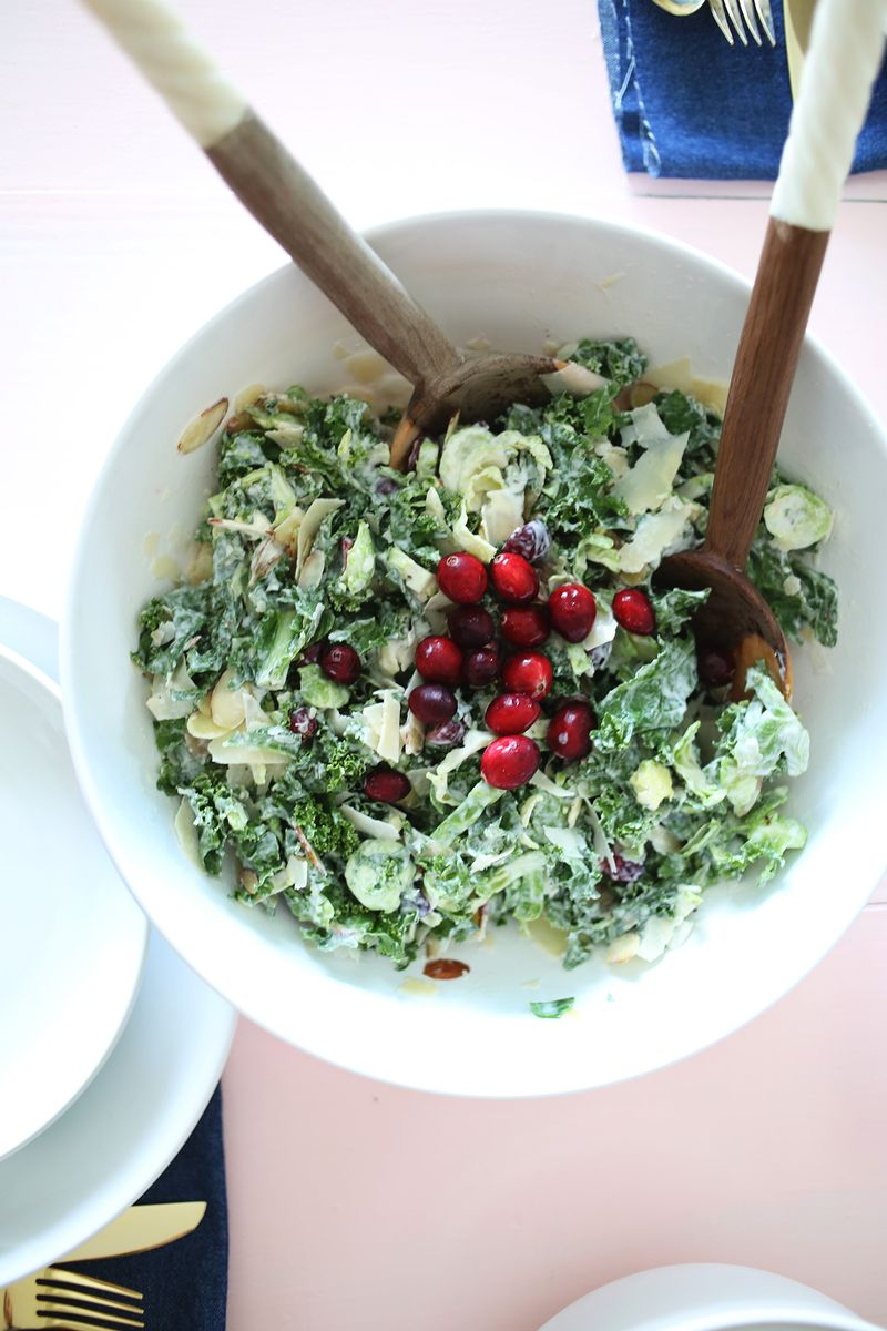 Creamy kale and cranberry salad copy