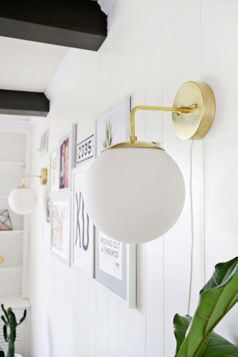 Brass Globe Sconce Diy A Beautiful Mess