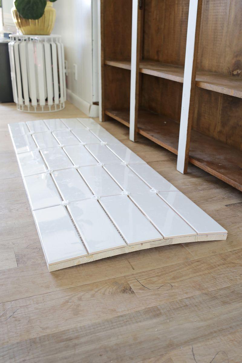 Tiled Countertop Diy Through For Tutorial