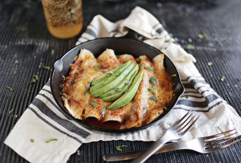 Chipotle and Pumpkin Veggie Enchiladas (via abeautifulmess.com)