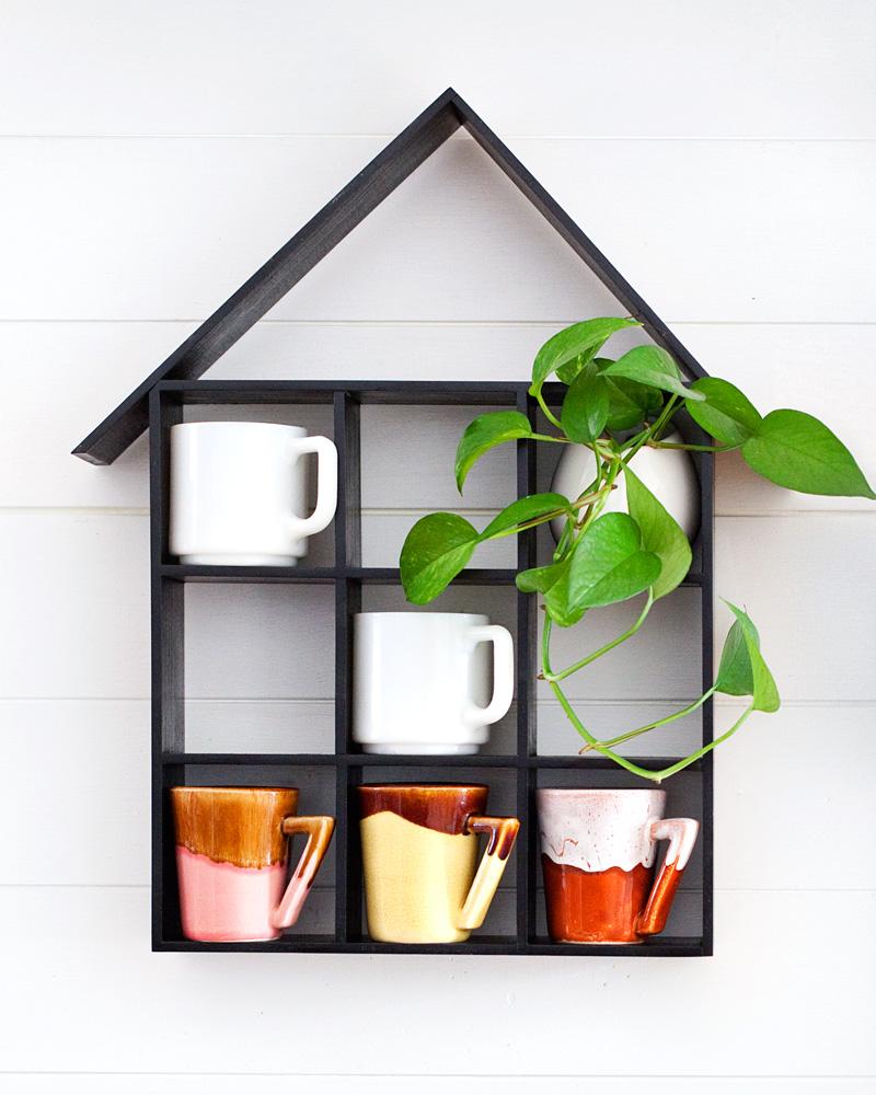 House shaped shelf diy a beautiful mess bloglovin - Beautiful photoshelves ...