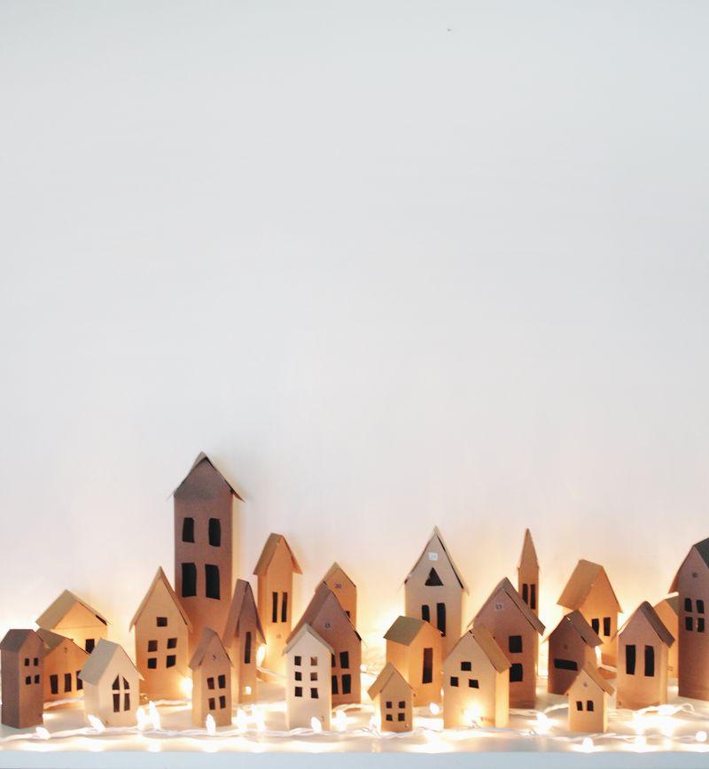 Advent calendar village (click through for tutorial)