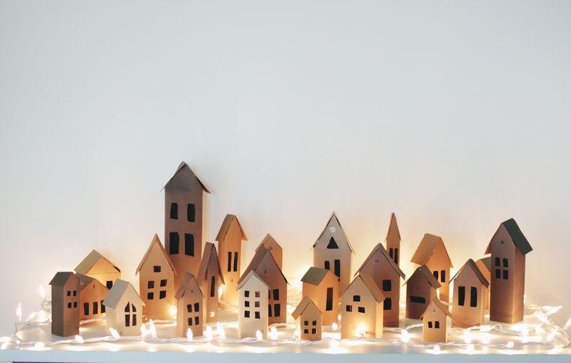 Darling advent calendar village