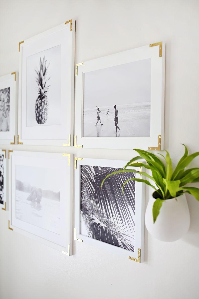 Gold hardware frames DIY