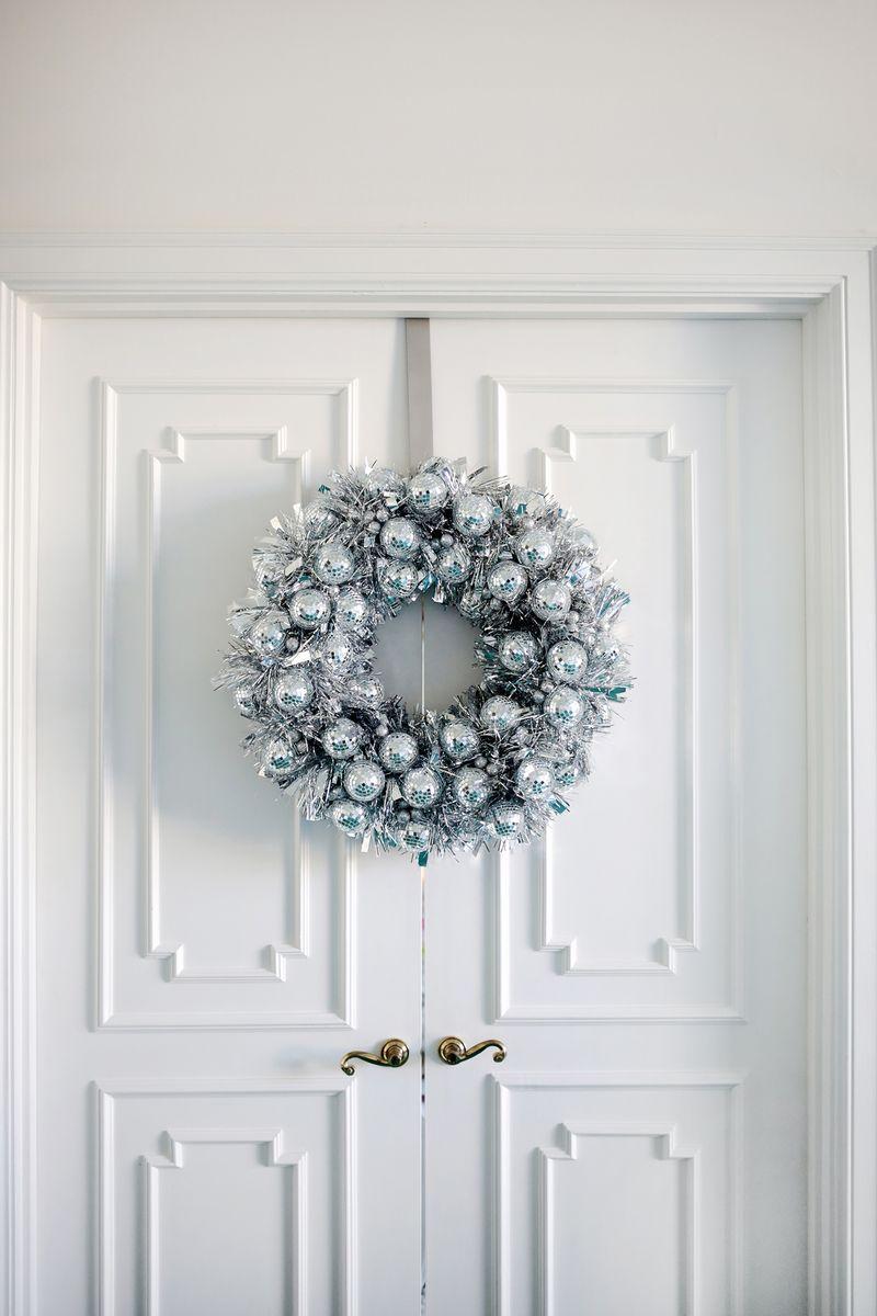 Disco ball wreath? Yes please!