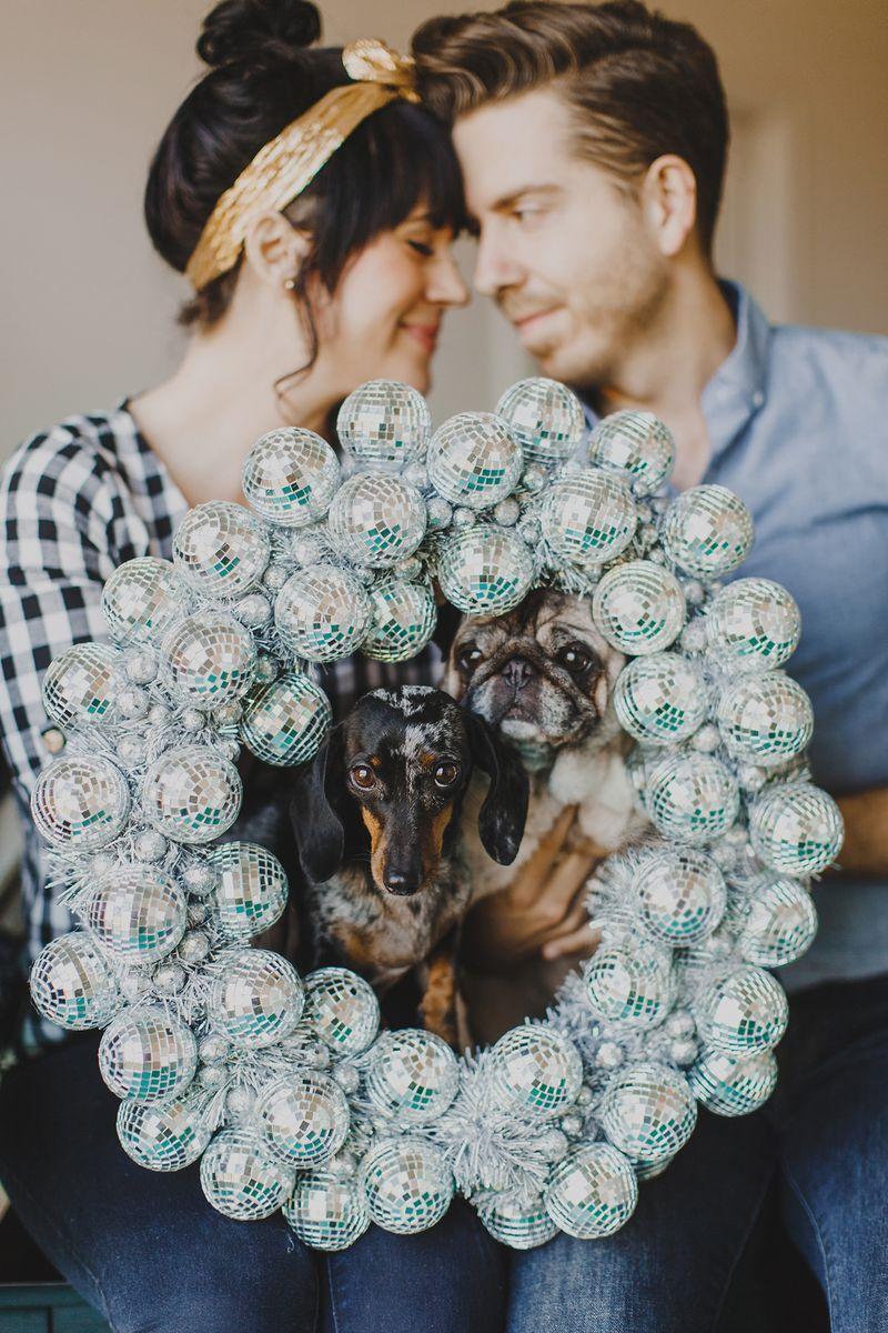 Disco Ball Wreath