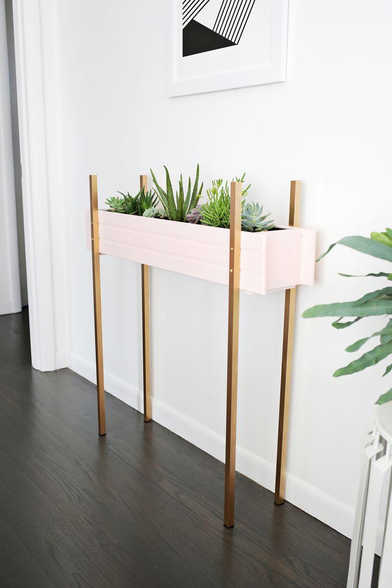 Planteur Skinny stand de bricolage (cliquez à travers pour tutoriel)