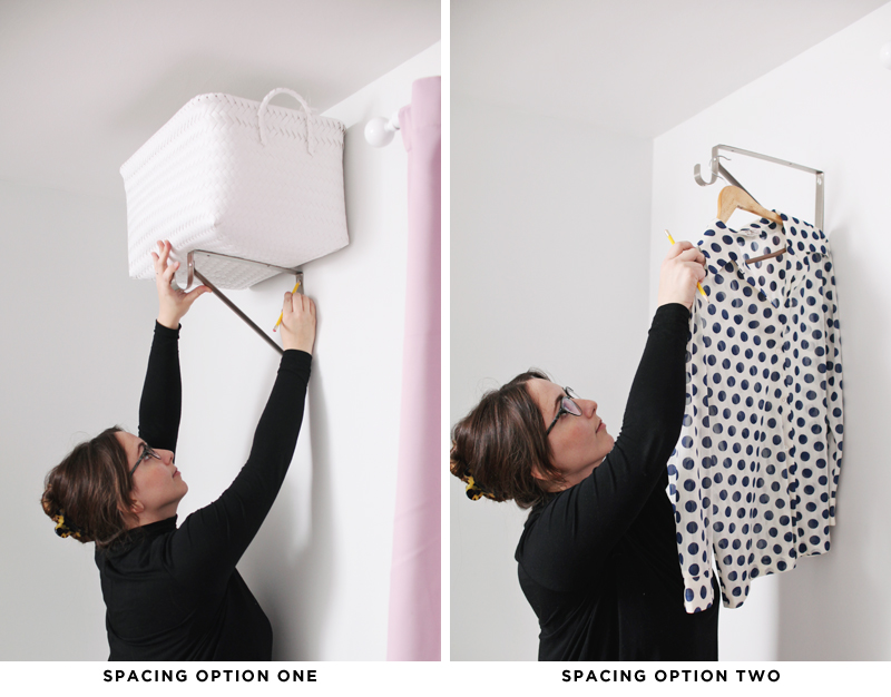 DIY open closet system- for those with tiny bedroom closets!