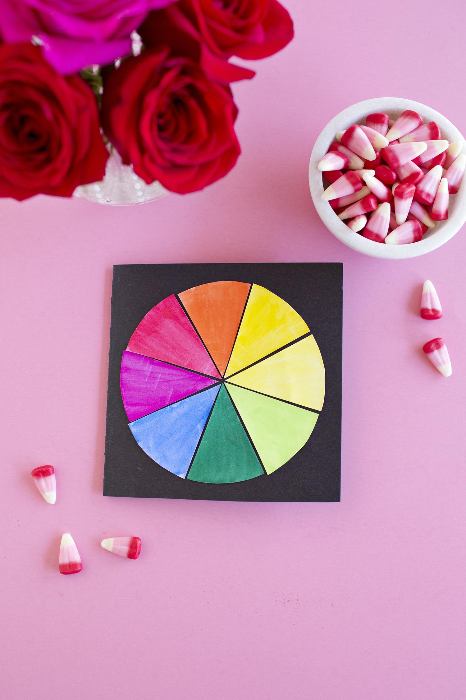 Color wheel card