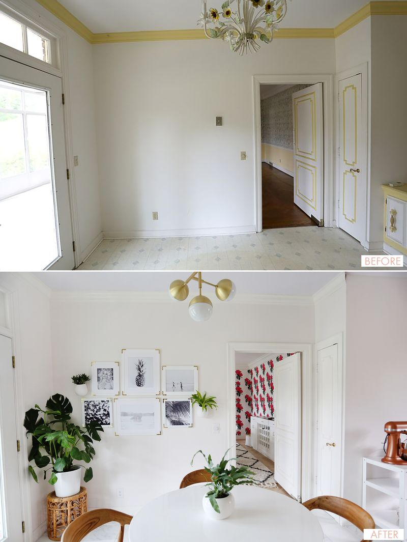 Before-after via A Beautiful Mess