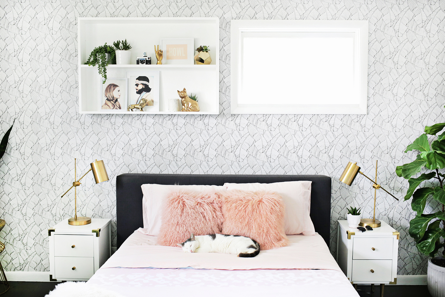 wallpaper design for wall s bedroom before after a beautiful mess 6970