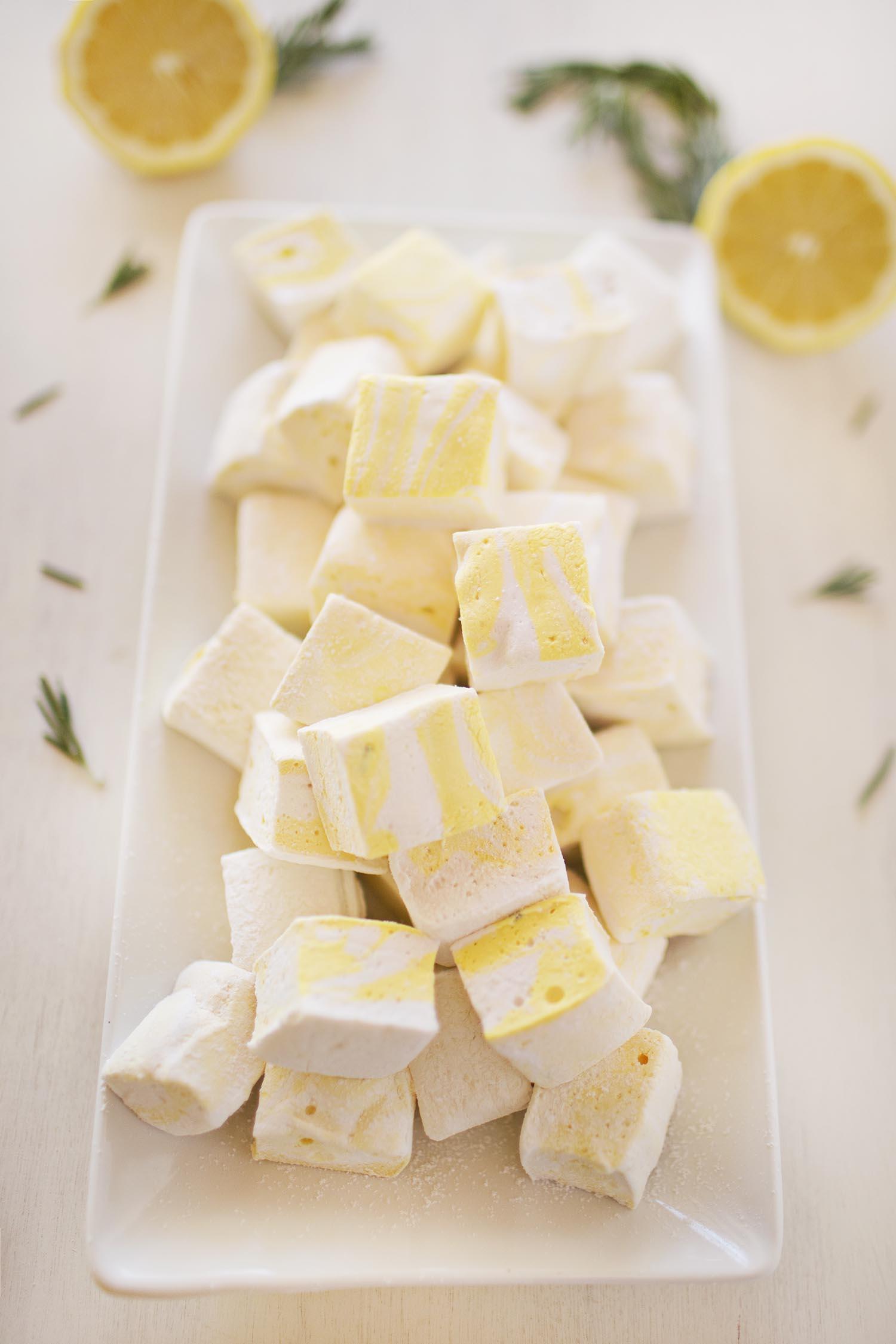 Lemon and Rosemary Marhmallows (via abeautifulmess.com)