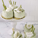 Matcha No-Bake Cheesecakes