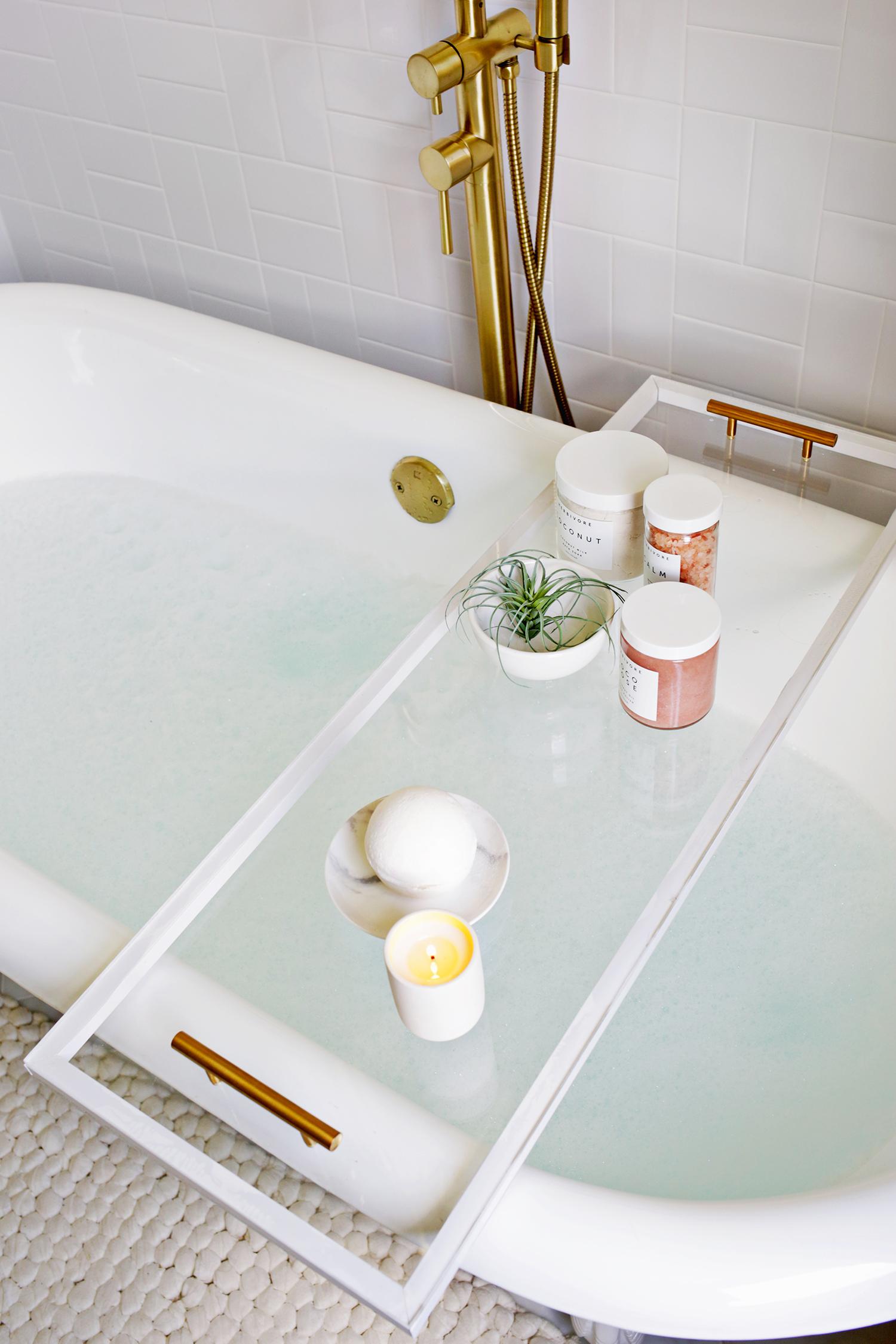 Lucite Bathtub Caddy Diy A Beautiful Mess