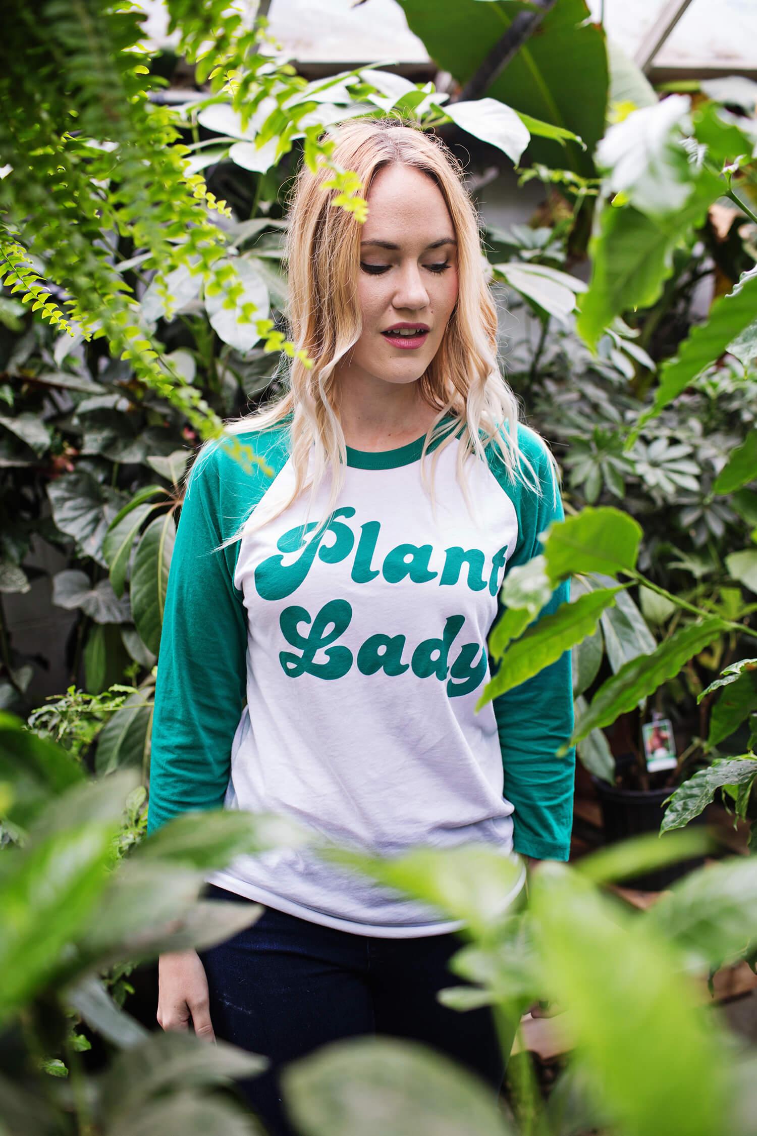 Plant Lady baseball t-shirt