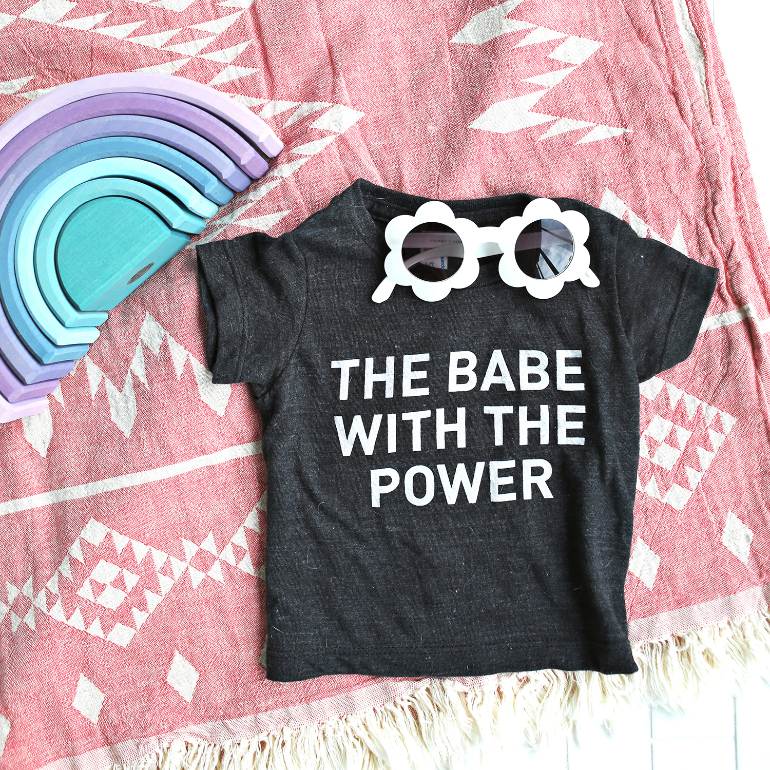 Babe with the power baby t-shirts