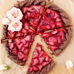 Strawberries and Champagne Galette with a Chocolate Crust