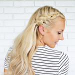 Half-Up Braids with Mermaid Waves