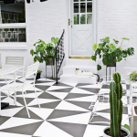 Painted Patio Tile DIY