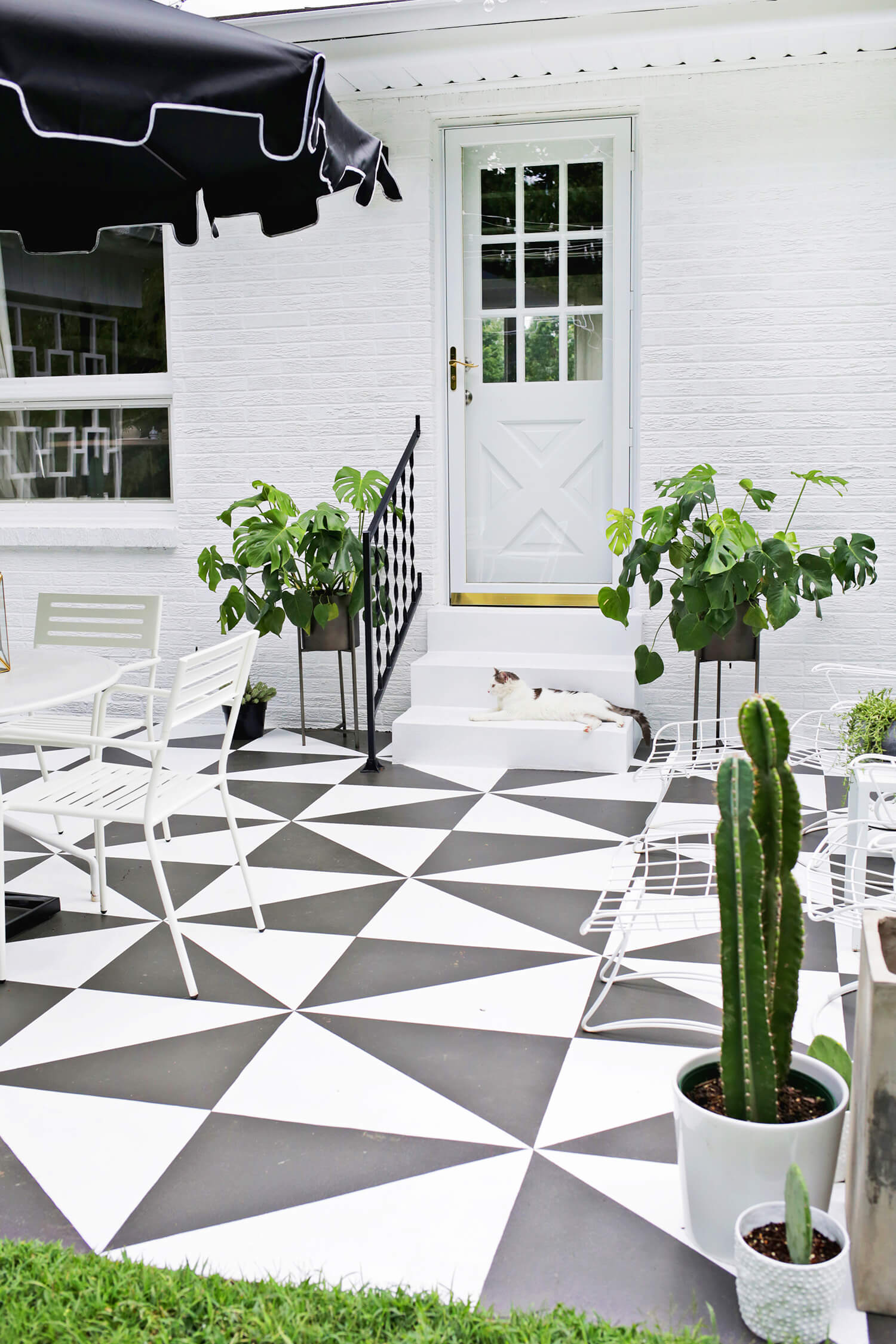Painted Patio Tile DIY – A Beautiful Mess