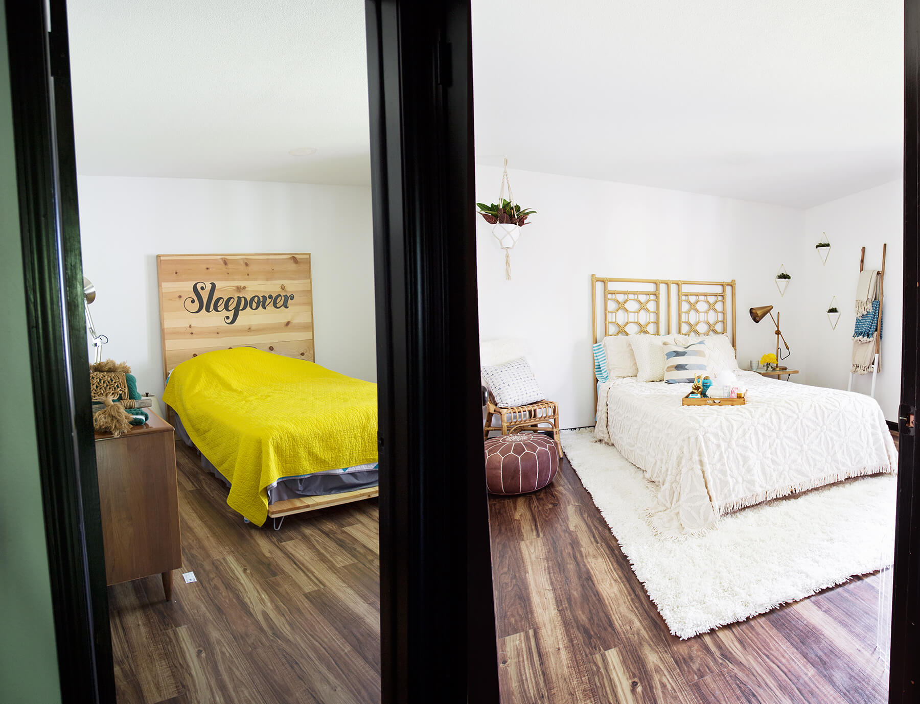Guest room before and after