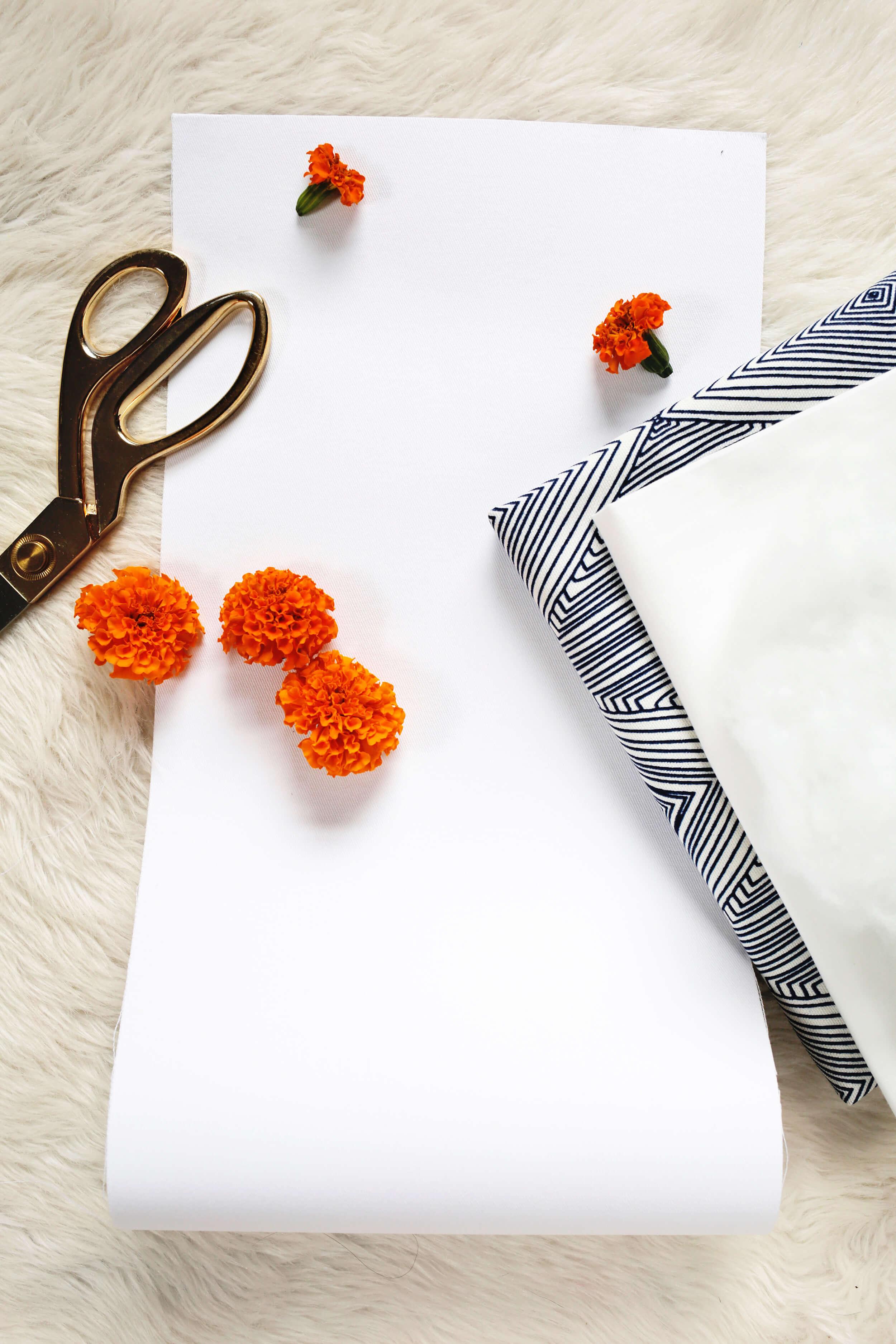 Vibrant floral photo pillow DIY