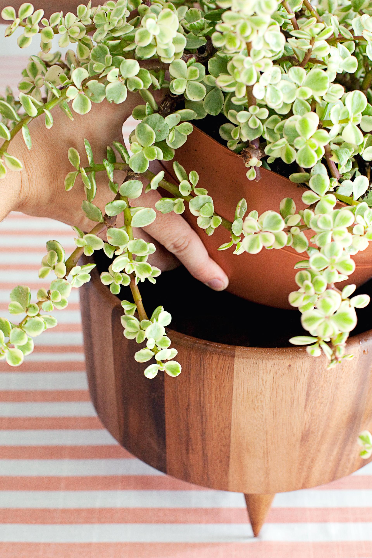Simple DIY footed planter