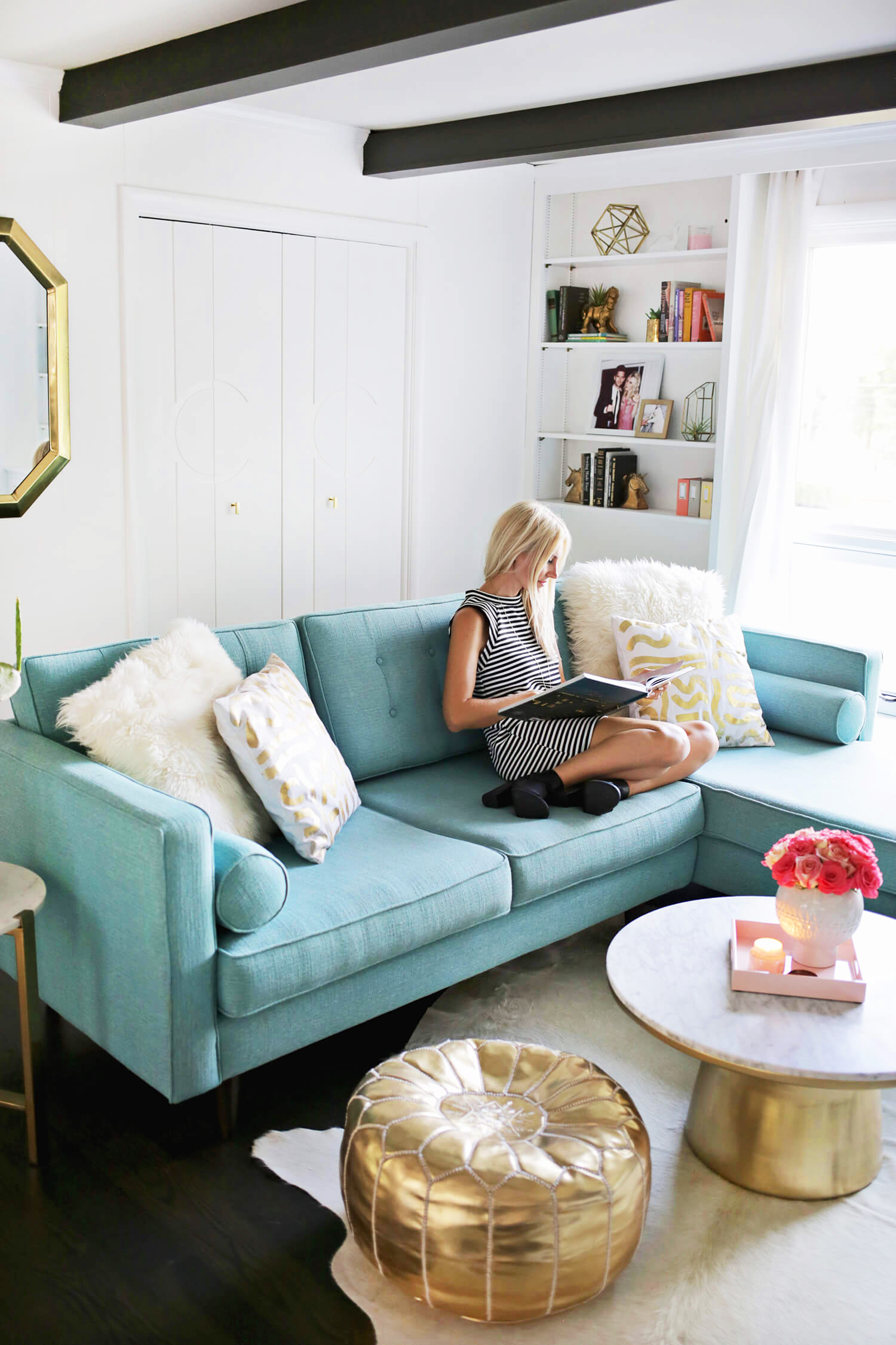 Laura's Den Tour Before + After (click through for more!)