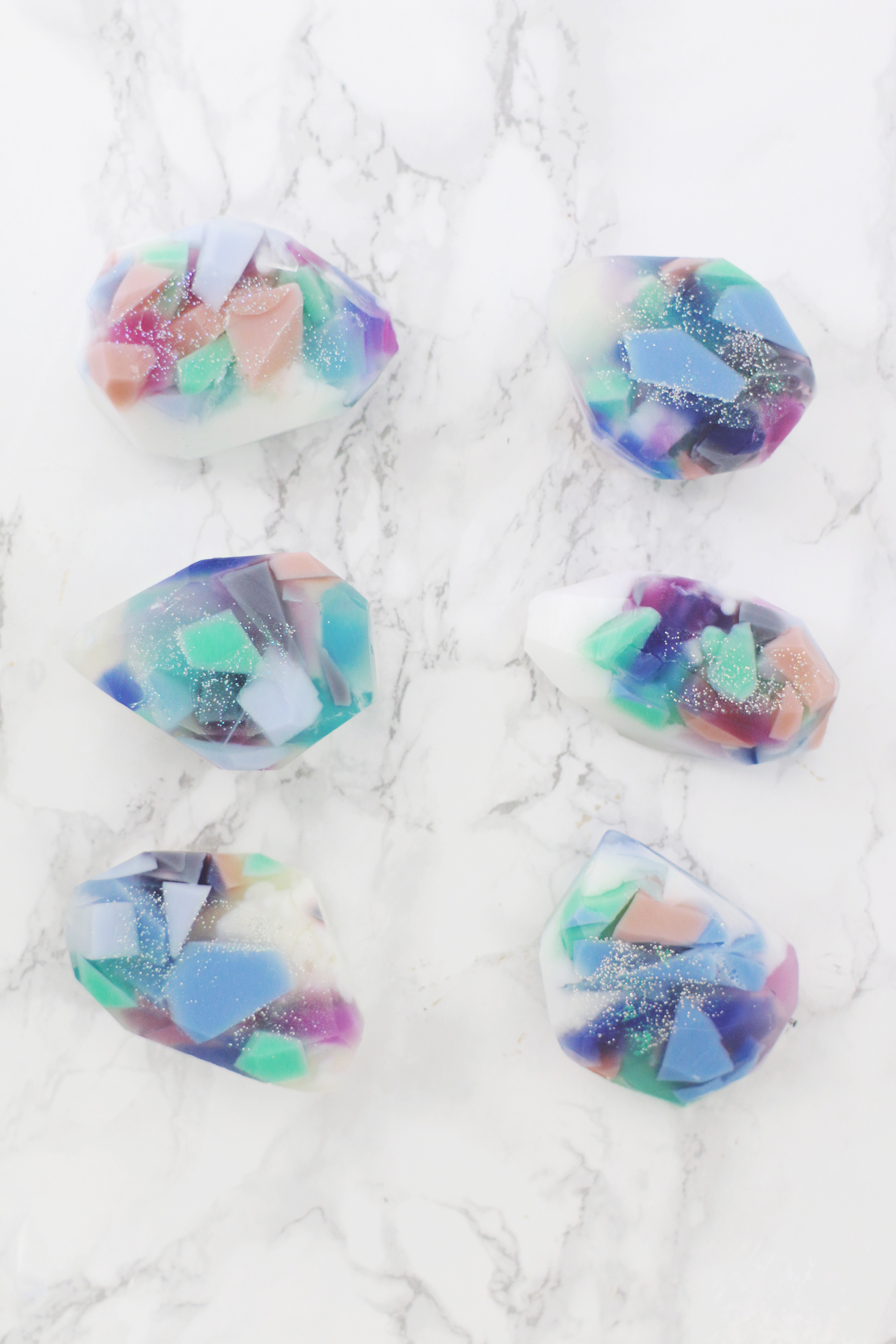 Gemstone Soap Diy Two Ways A Beautiful Mess