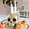 Skull Candle Holder DIY  - October 11, 2016