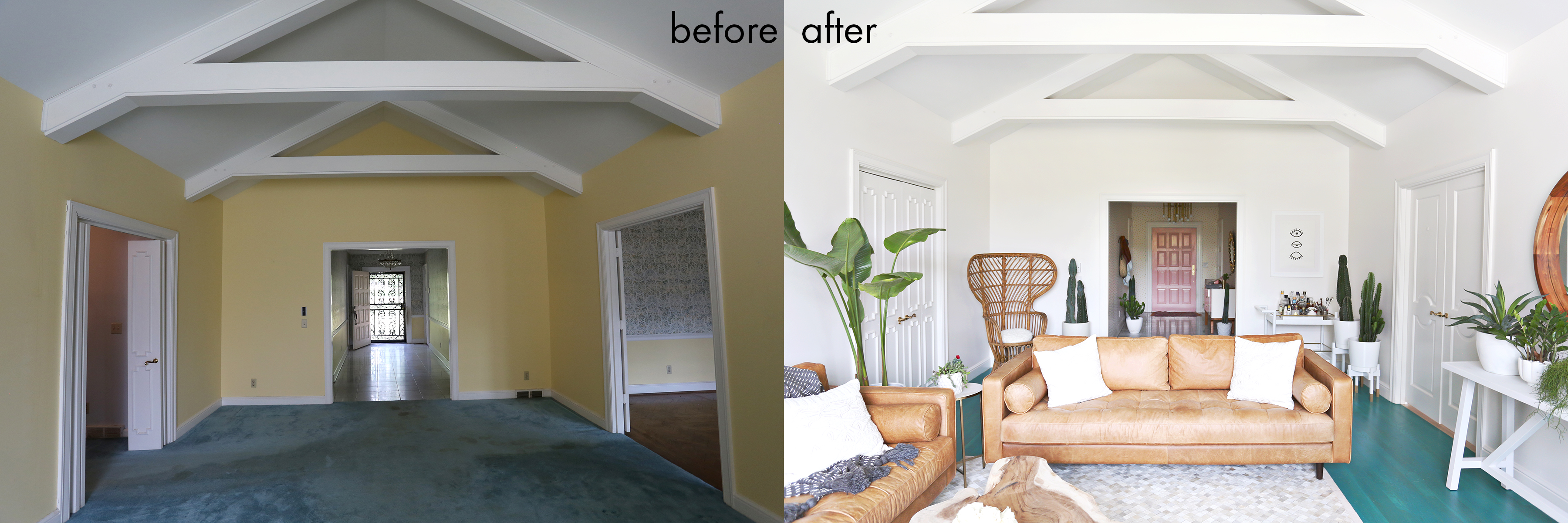 Elsies Living Room Tour Before After