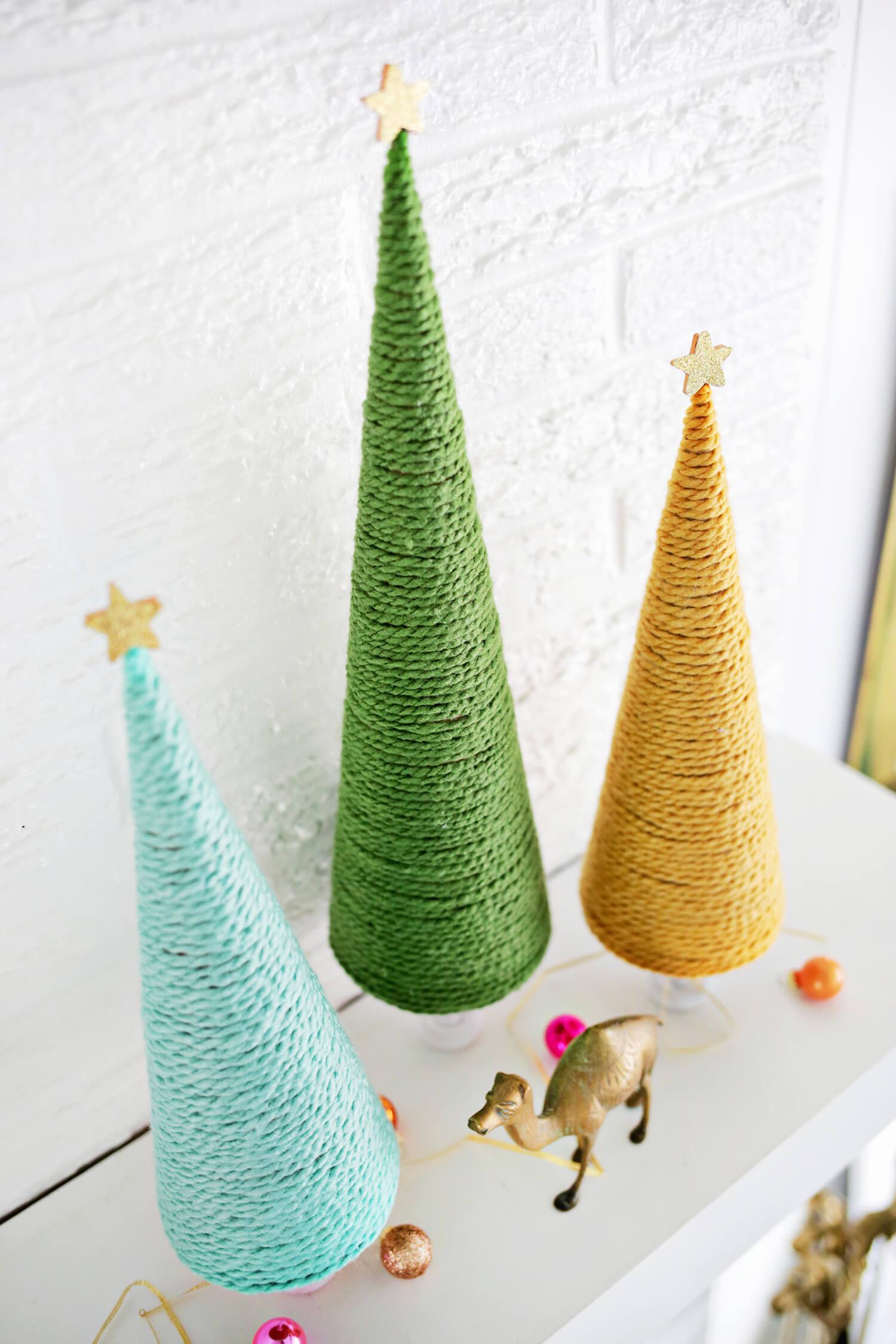 ... Yarn Christmas Tree DIY (click Through For Tutorial)