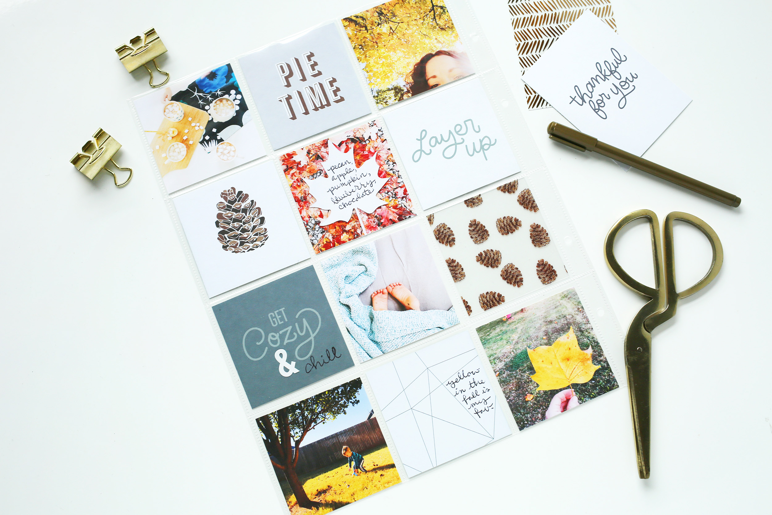 Scrapbook Sunday Messy Box from A Beautiful Mess. Document your favorite holiday memories