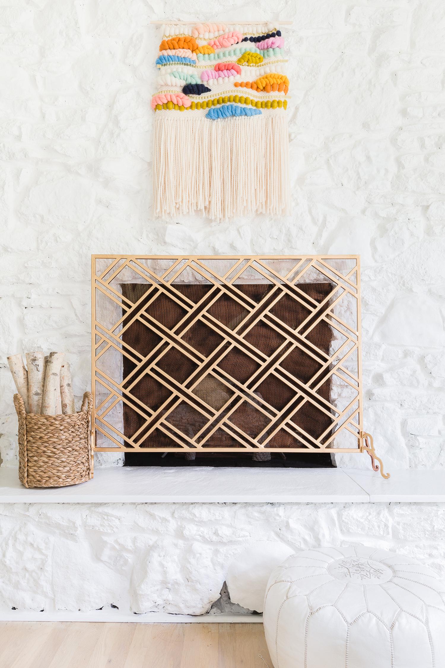 Painted white fireplace ©AlyssaRosenheck