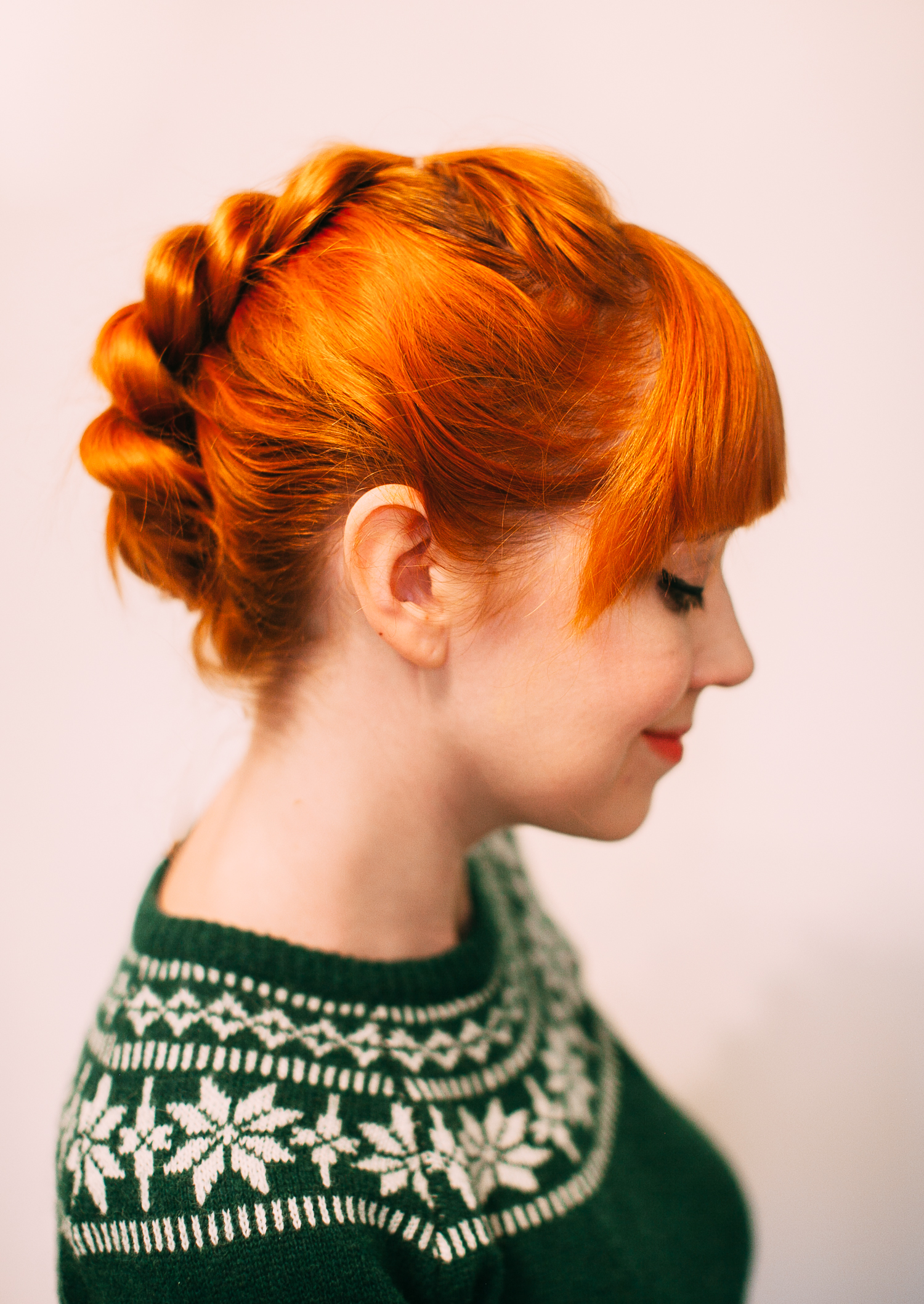Pull-through faux braid updo (click-through for the full tutorial)