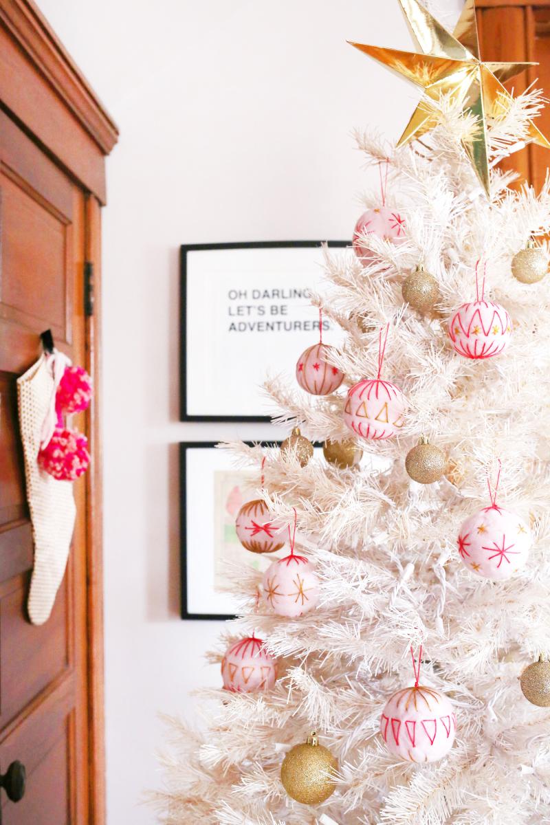 Felt Ball Ornament DIY for A Beautiful Mess Blog