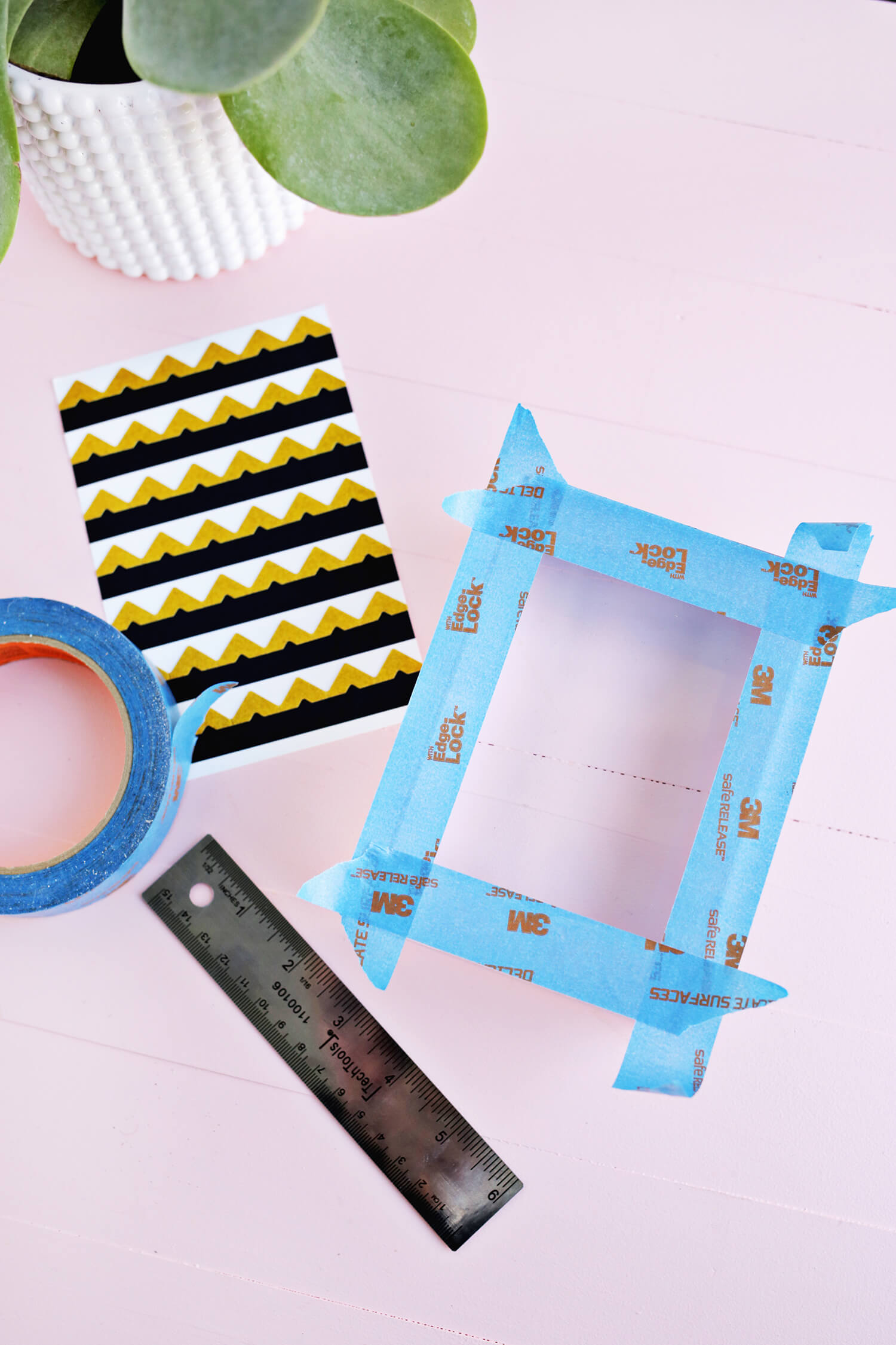 Lucite Block Photo Frame DIY (click through for tutorial)