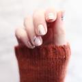 Minimal Striped Foil Mani DIY  - January 11, 2017