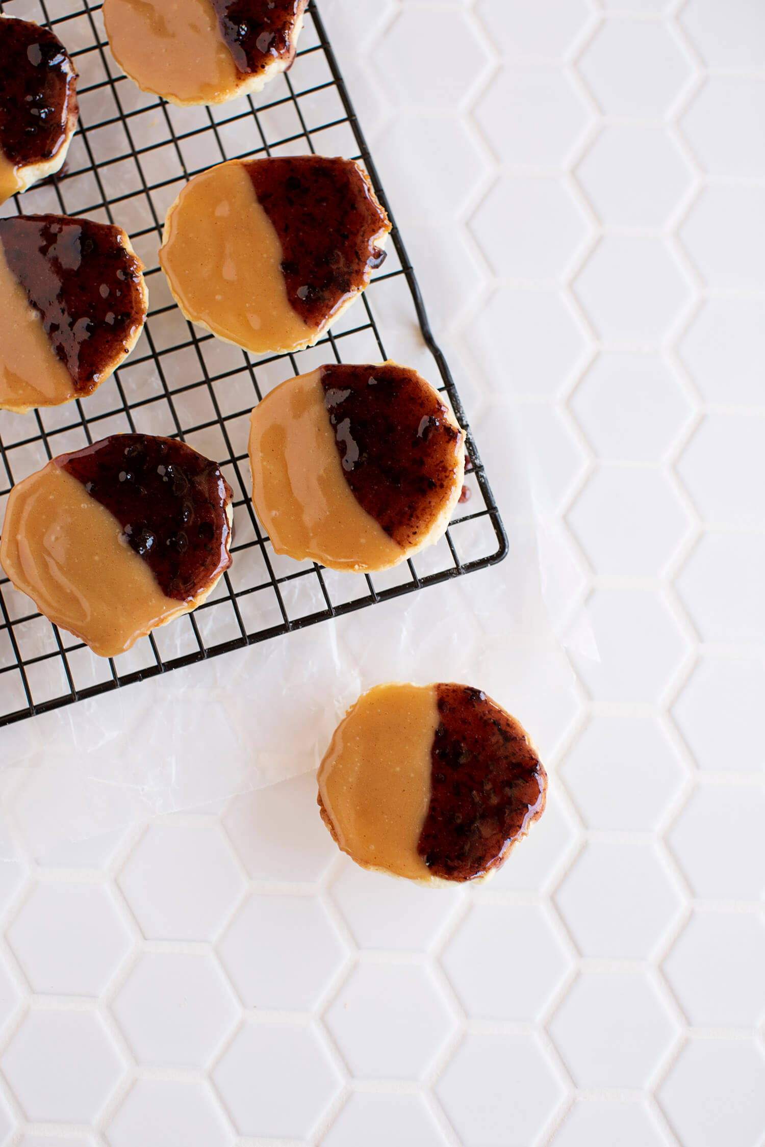 Peanut Butter & Jelly Cookies (via abeautifulmess.com)