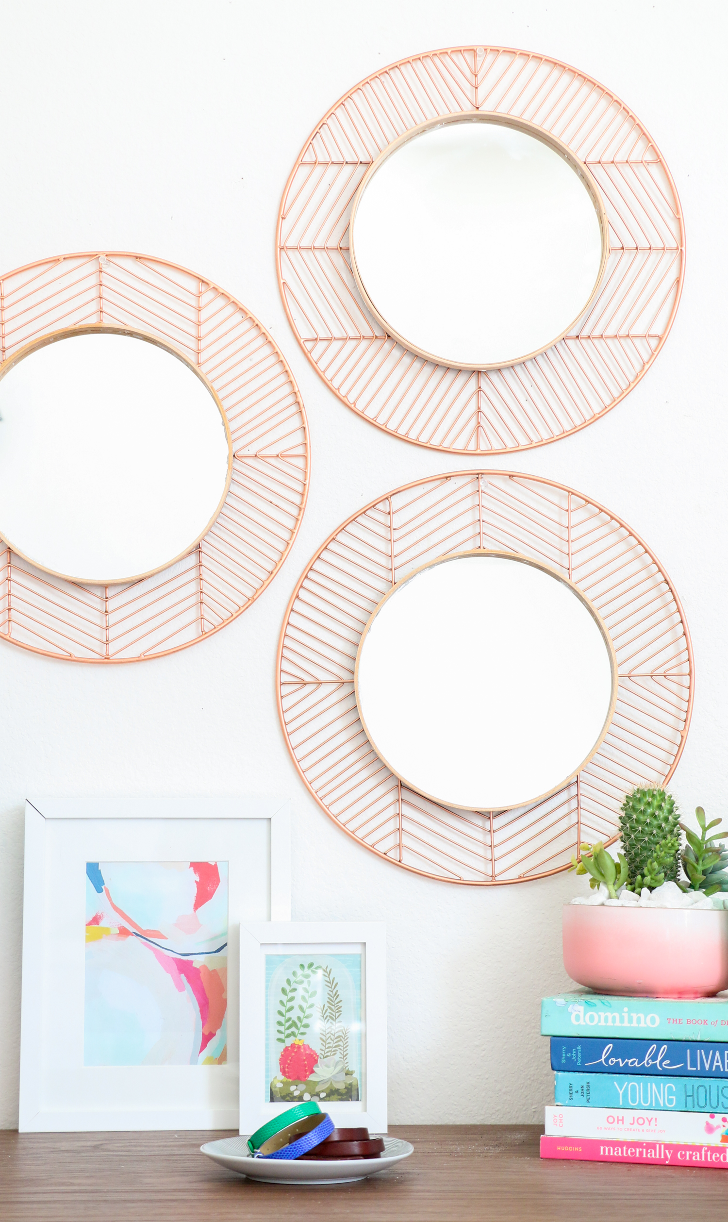 ... DIY Copper and Wood Mirrors (Click Through For Tutorial) _