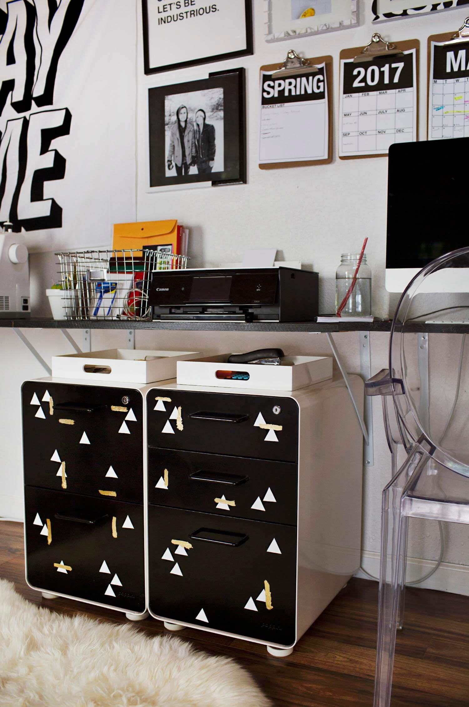 Best Paint For Metal Furniture File Cabinet Makeover ...