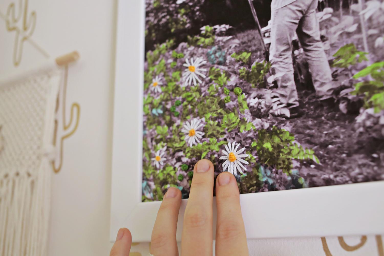 Retro Style Embroidered Photo DIY