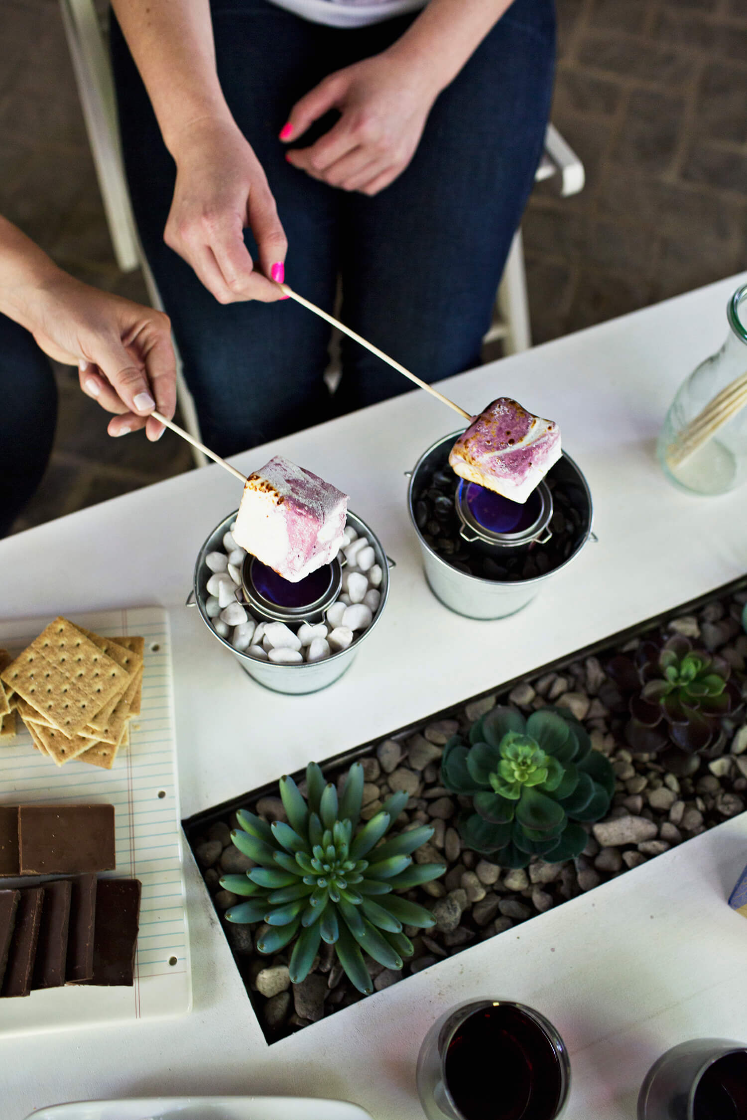 Red Wine Marshmallow s'mores recipe (via abeautifulmess.com)